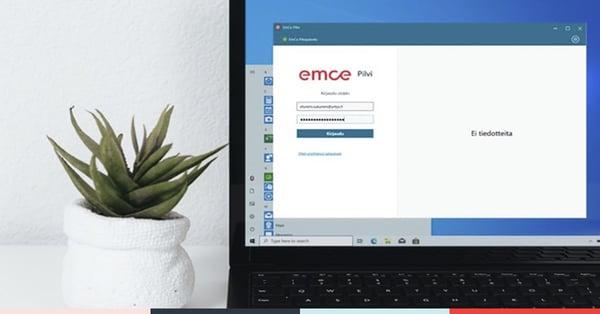 EmCe-pilvi-kirjautumisikkuna
